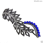 Art Deco Diamond Bracelet 4 Ct Natural Certified Diamond Sapphire 925 Sterling Silver Festive